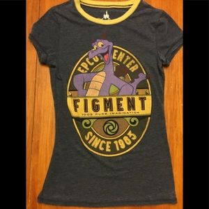 Figment the dragon Epcot shirt. Small baby doll T